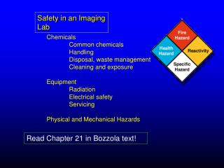 Safety in an Imaging Lab