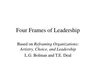 Four Frames of Leadership