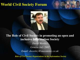 World Civil Society Forum
