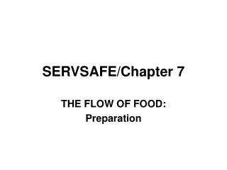 SERVSAFE/Chapter 7