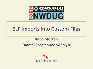 ELF Imports into Custom Files