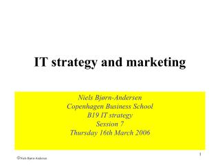 IT strategy and marketing