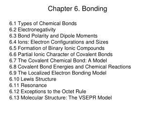Chapter 6. Bonding