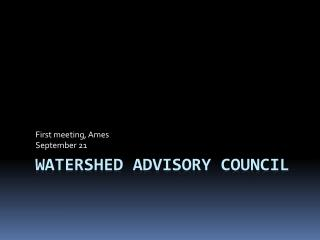 Watershed Advisory Council