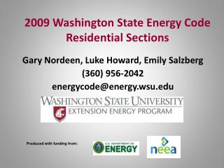 2009 Washington State Energy Code Residential Sections
