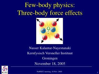 Few-body physics: Three-body force effects