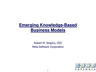 Emerging Knowledge-Based Business Models