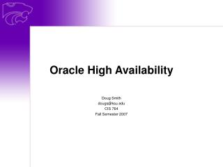 Oracle High Availability