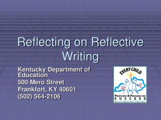Reflecting on Reflective Writing