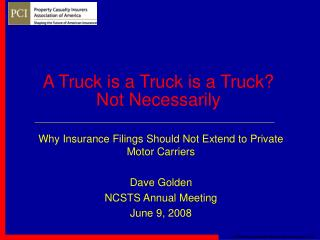 A Truck is a Truck is a Truck? Not Necessarily