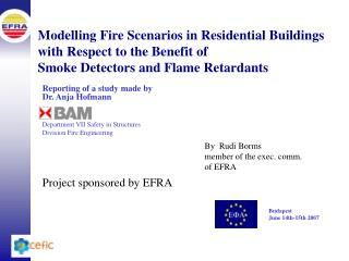 Modelling Fire Scenarios in Residential Buildings  with Respect to the Benefit of Smoke Detectors and Flame Retardants