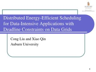 Distributed Energy-Efficient Scheduling for Data-Intensive Applications with Deadline Constraints on Data Grids