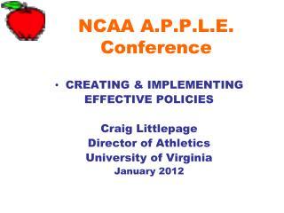NCAA A.P.P.L.E. Conference