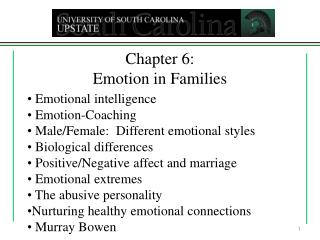 Chapter 6: Emotion in Families