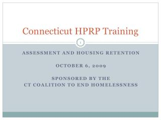 Connecticut HPRP Training