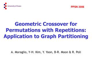 Geometric Crossover for Permutations with Repetitions: Application to Graph Partitioning