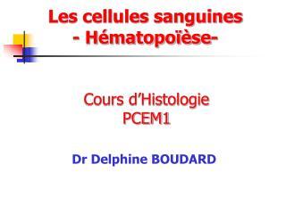 Cours d'Histologie  PCEM1