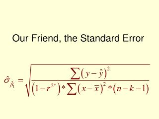 Our Friend, the Standard Error