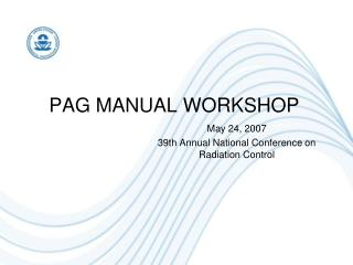 PAG MANUAL WORKSHOP