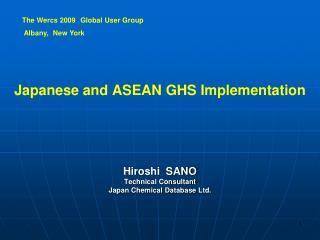 Japan e se  and ASEAN GHS I mplementation