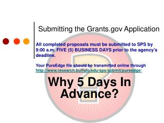 Submitting the Grants Application