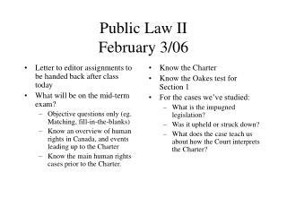 Public Law II February 3/06