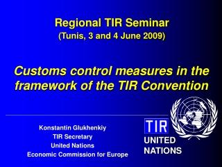 Regional TIR Seminar (Tunis, 3 and 4 June 2009)