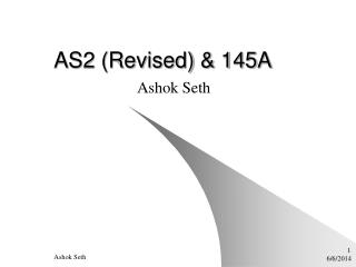 AS2 (Revised) & 145A