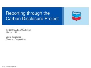 Reporting through the Carbon Disclosure Project