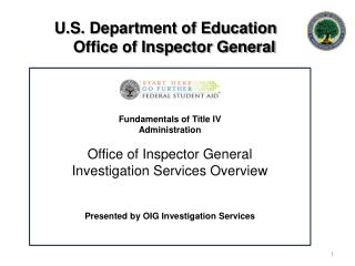 U.S. Department of Education     Office of Inspector General