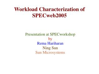 Workload Characterization of SPECweb2005