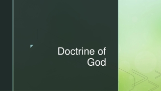 God s Doctrine on Doctrine