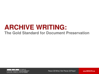 Archive Writing: The Gold Standard for Document Preservatio