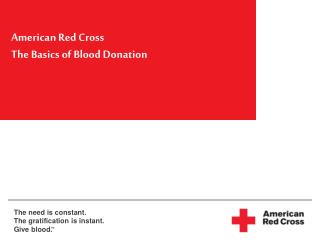 American Red Cross  The Basics of Blood Donation