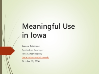 Meaningful Use in Iowa