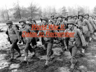 World War II: Dates to Remember
