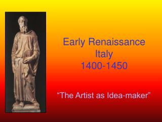 Early Renaissance Italy 1400-1450