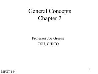 General Concepts Chapter 2