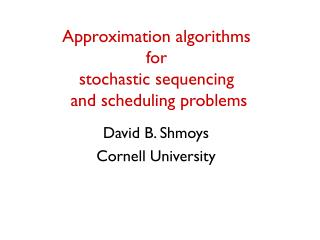 Approximation algorithms  for  stochastic sequencing  and scheduling problems