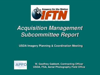 Acquisition Management Subcommittee Report