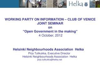 Helsinki Neighbourhoods Association  Helka