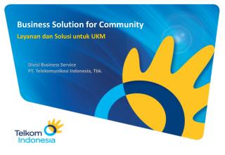 Business Solution for Community
