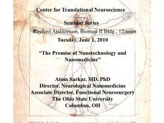 Center for Translational Neuroscience   Seminar Series