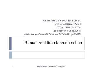 Robust real-time face detection