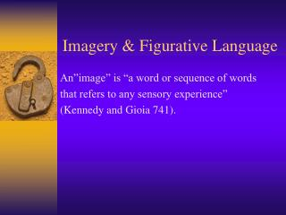 Imagery & Figurative Language