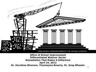 Office of School Improvement Differentiated Webinar Series Remediation That Makes A Difference April 24, 2012