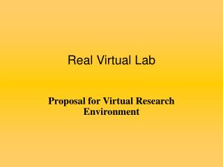Real Virtual Lab
