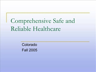 Comprehensive Safe and Reliable Healthcare