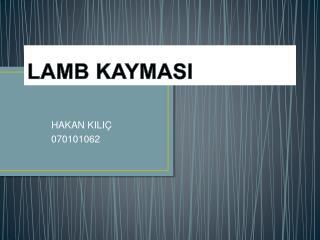 LAMB KAYMASI