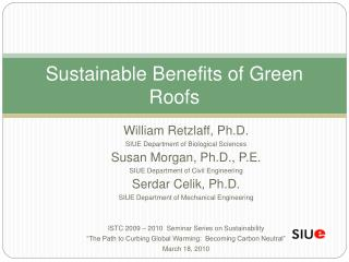 Sustainable Benefits of Green Roofs